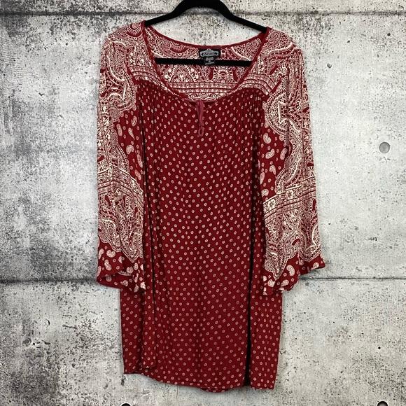 Angie // Boho Printed Tunic Blouse